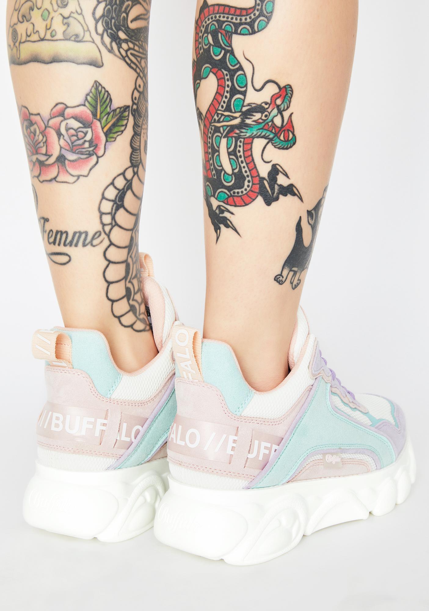 Buffalo Pastel Multi Corin Platform Sneakers