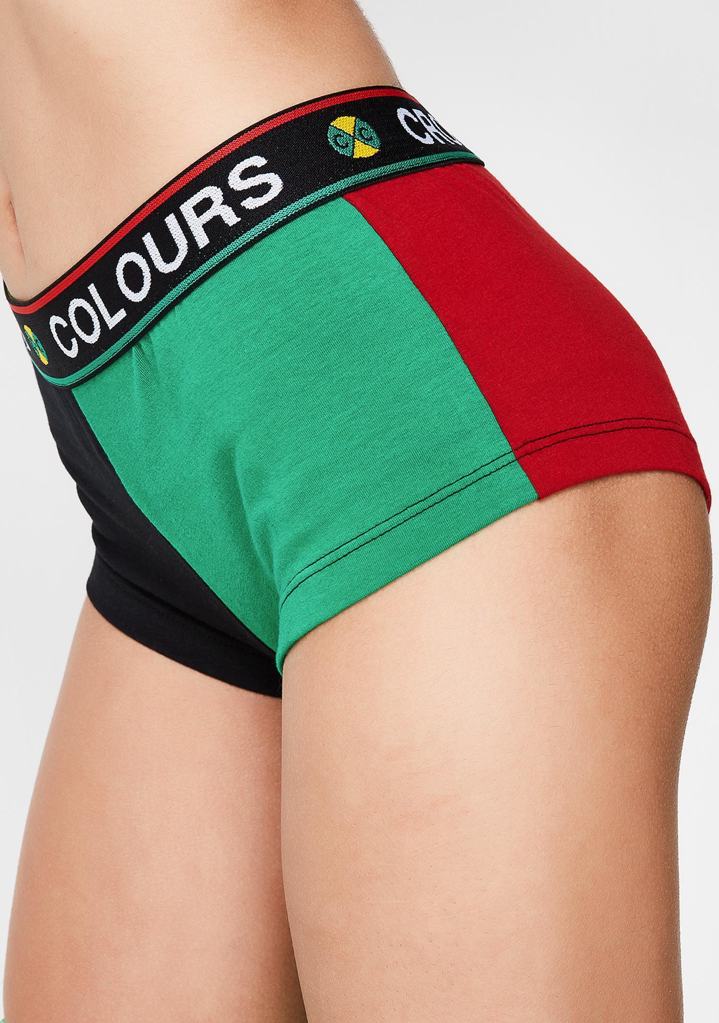 Cross Colours Solid Boyshort Undies