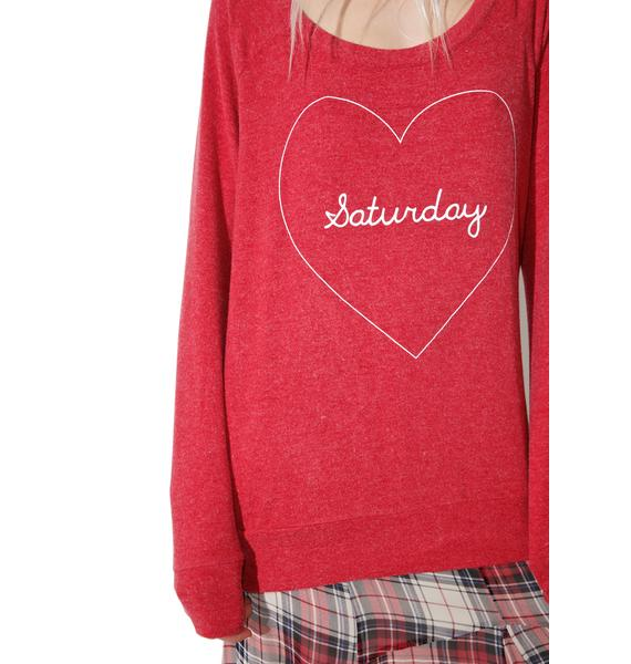 Chaser Saturday Love Sweater