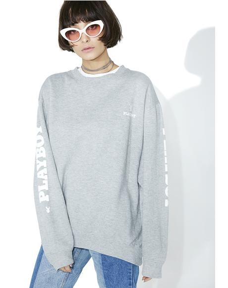Vintage Heather Grey Playboy Crewneck