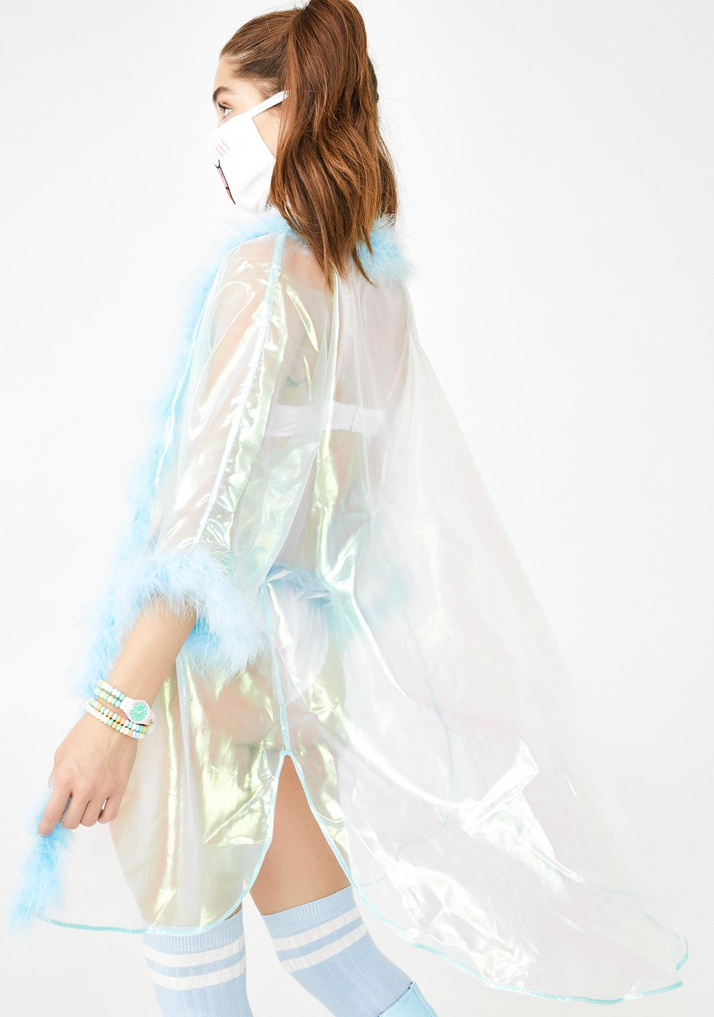 Sparkl Fairy Couture Wavy Iridescent Fab Kimono