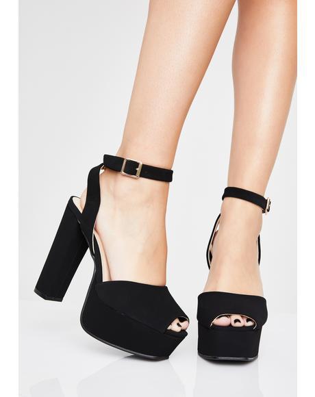 Dark Prismatic Strut Platform Heels