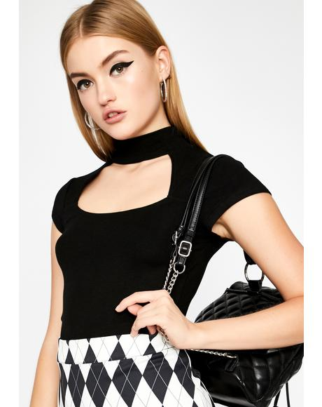 Call Me Babe Cut Out Top