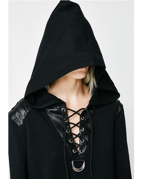 Daily Punk Hooded Long Sleeve Sweater