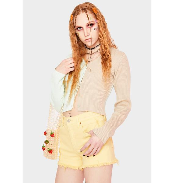 Daze Golden Hour Troublemaker Distressed Denim Shorts