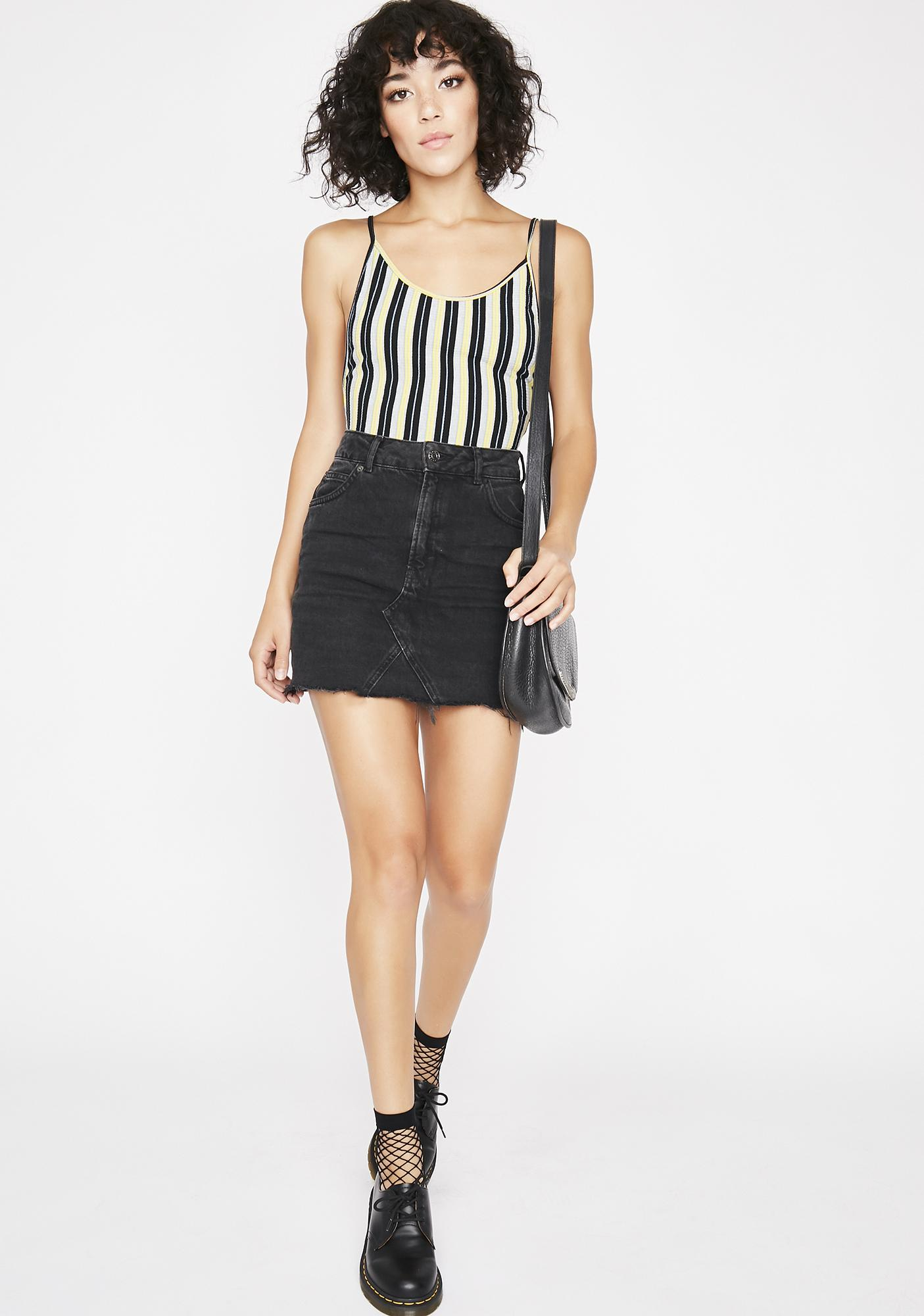Dark Get Into Trouble Striped Bodysuit