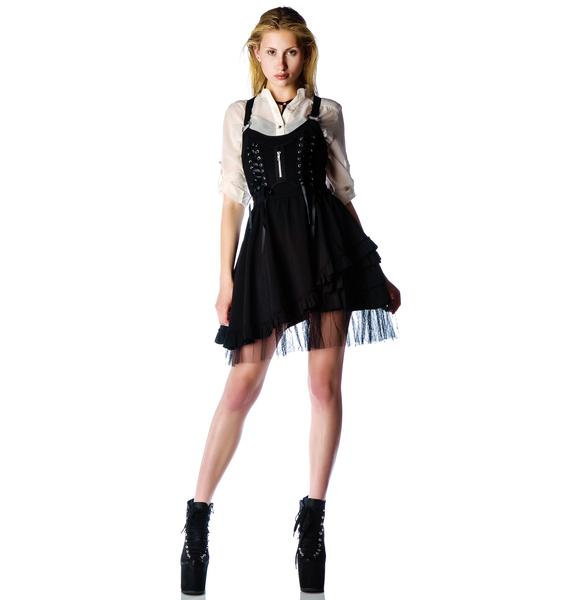Hell Bunny Iva Netted Corset Dress