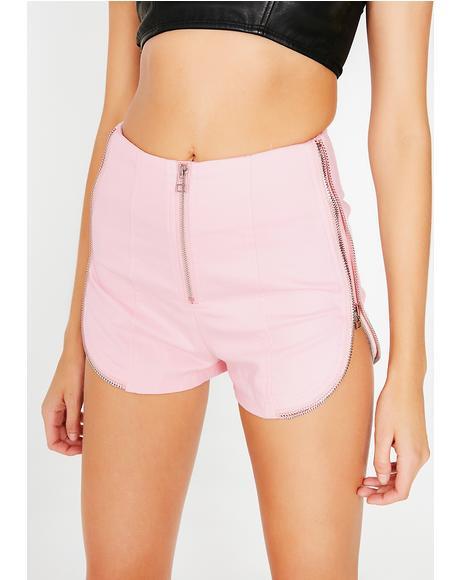 Border Line Zip Shorts