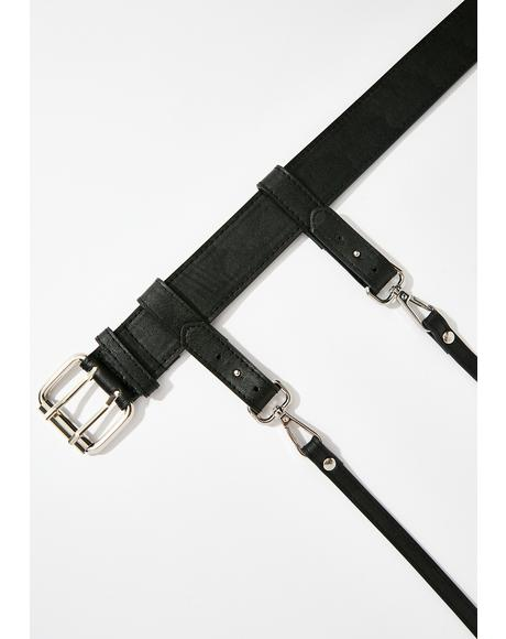 Off Da Leash Vegan Leather Belt