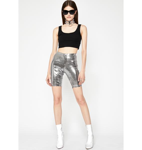 Chrome Rave Rework Sequin Shorts