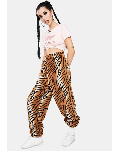 Tiger Fleece Jogger Sweatpants