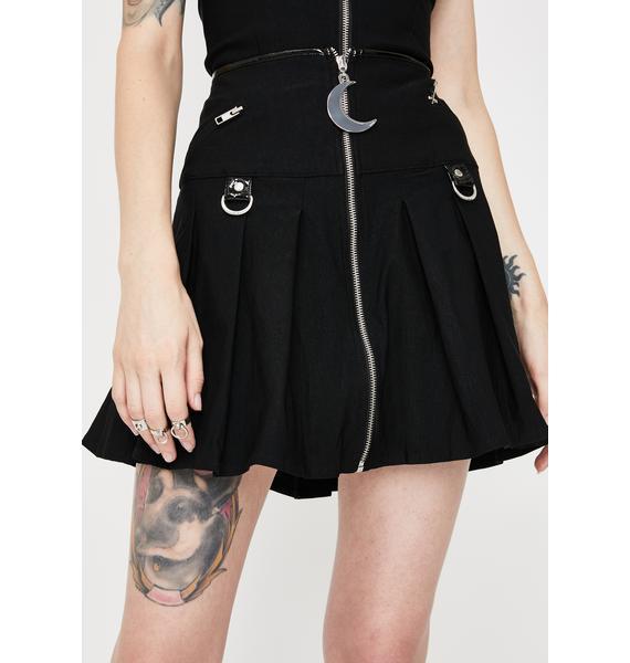 Killstar Kristen Pleated Mini Skirt