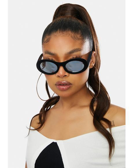 Velveteen Mirror Lens Sunglasses