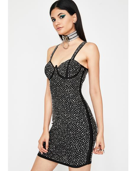 Fab Flare Rhinestone Dress