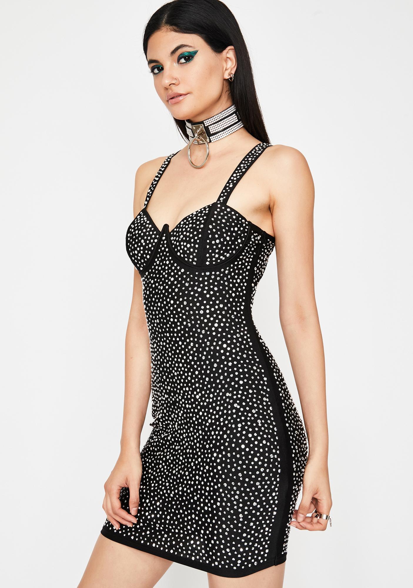 Fab Flare Rhinestone Dress