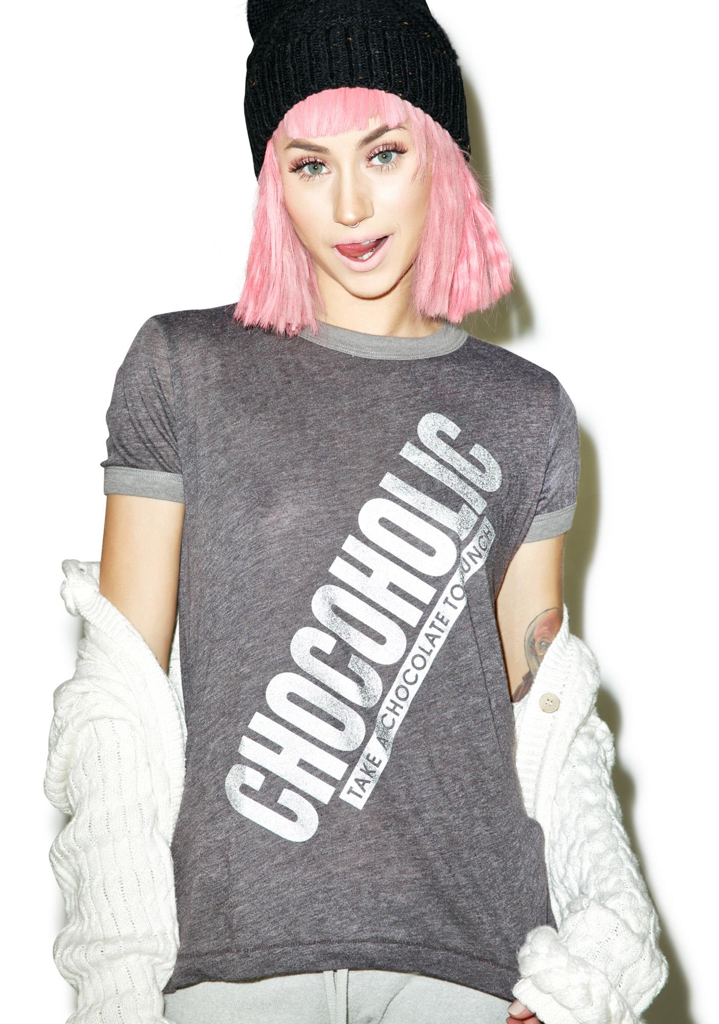Wildfox Couture Chocoholic Vintage Ringer Tee