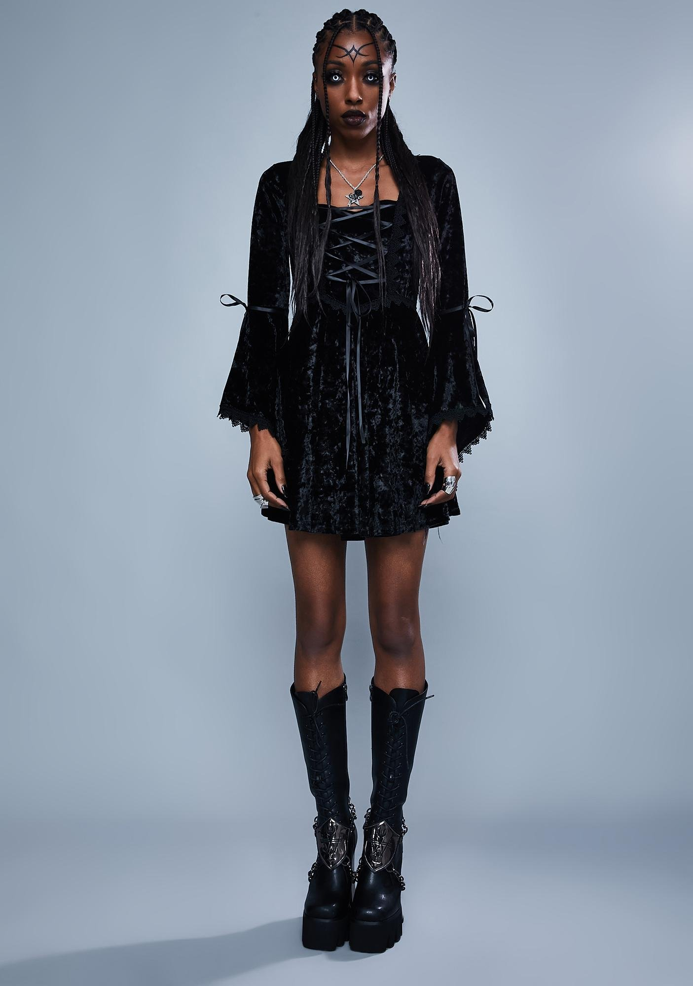 Widow Fear The Night Bell Sleeve Dress
