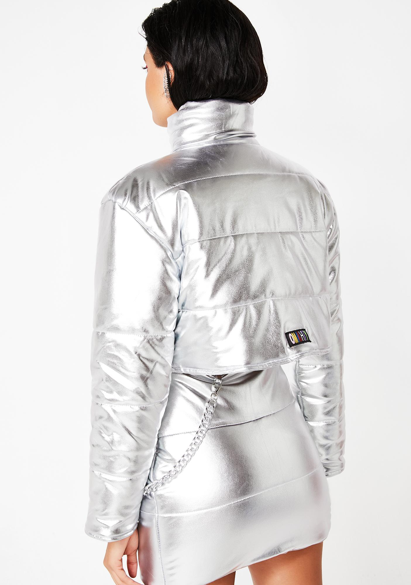 O Mighty Platinum Bratitude Puffer Jacket