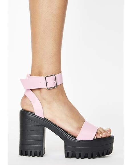 Pink Avenue Platform Heels