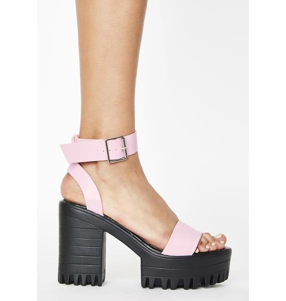 Public Desire Pink Avenue Platform Heels