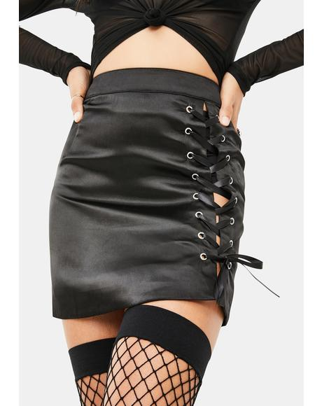 Do It Live Lace Up Skirt