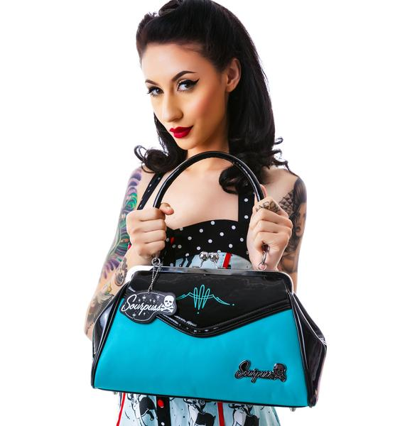 Sourpuss Clothing Pinstripe Backseat Baby Purse