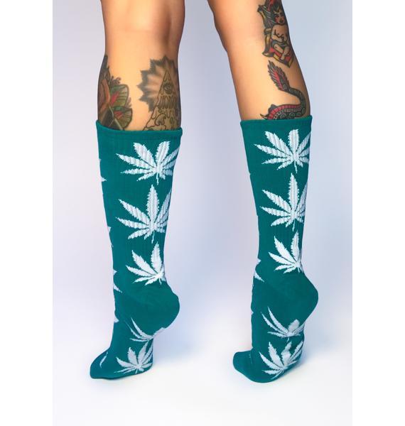 HUF Green Plantlife Crew Socks