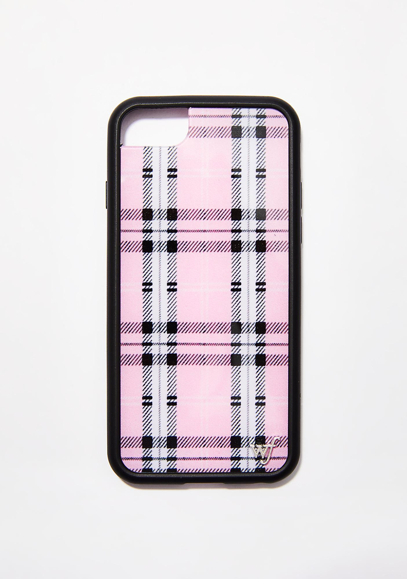 Wildflower Pink Plaid iPhone Case