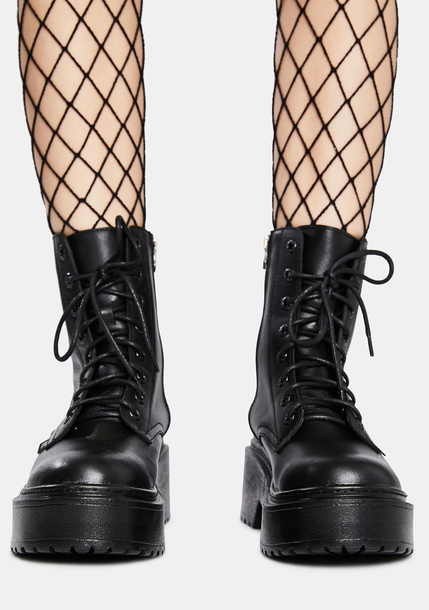 ROC Boots Australia Tomboy Leather Combat Boots
