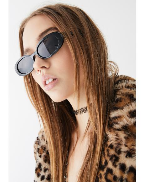 On Your Radar Oval Sunglasses