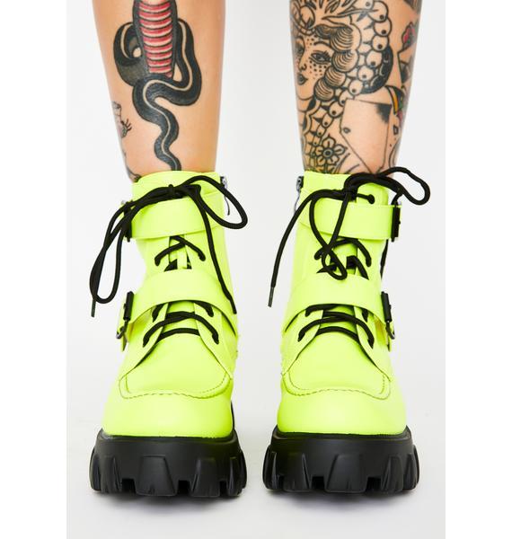 Dank Illegal Loner Combat Boots