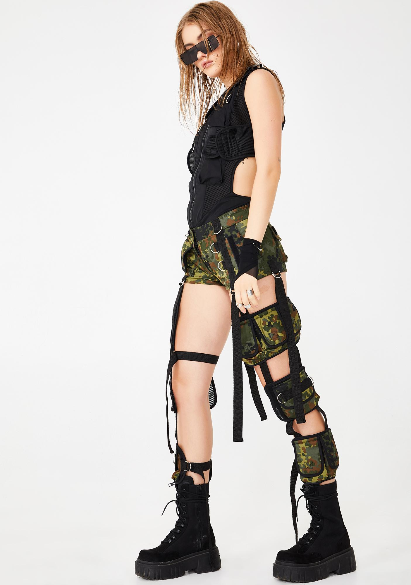 Namilia Camo Deconstructed Cargo Pants