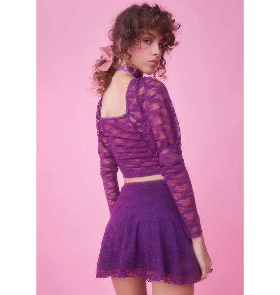 Sugar Thrillz This Provincial Life Lace Skirt