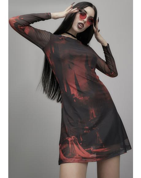 House Of Horrors Mesh Dress
