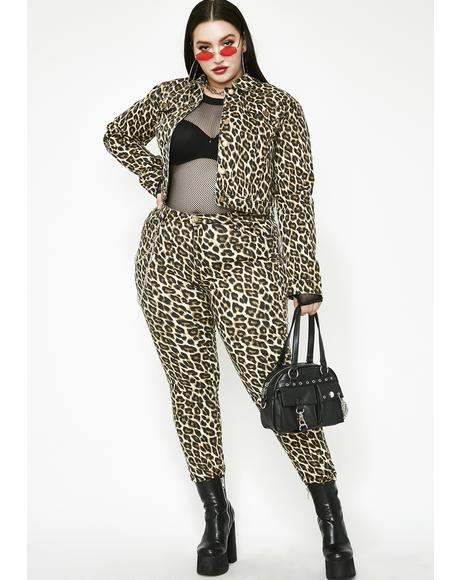 She's Feeling Catty Leopard Jeans