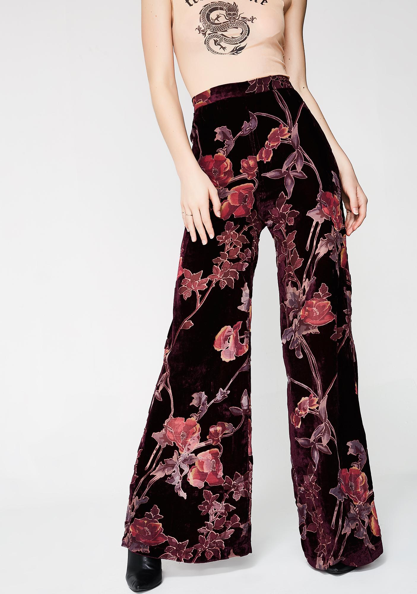 Drop City Velvet Pants