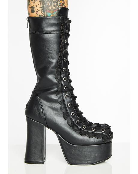 Devilina Platform Boots
