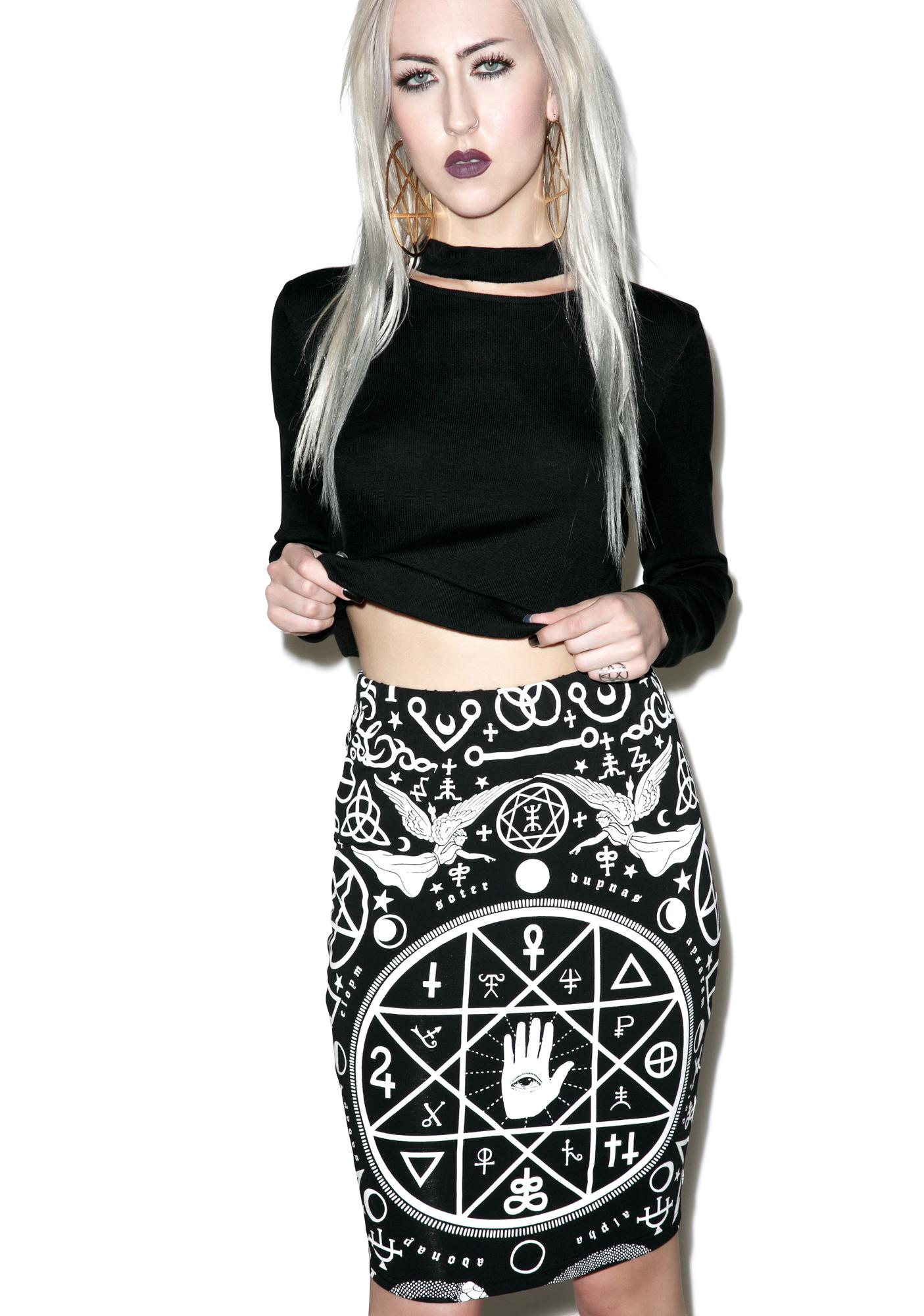 Killstar Cult Pencil Skirt