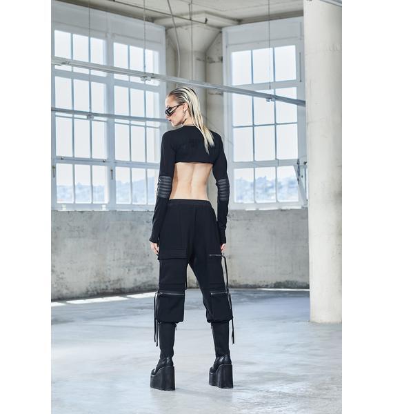 DARKER WAVS Bassline Zipper Jogger Sweatpants