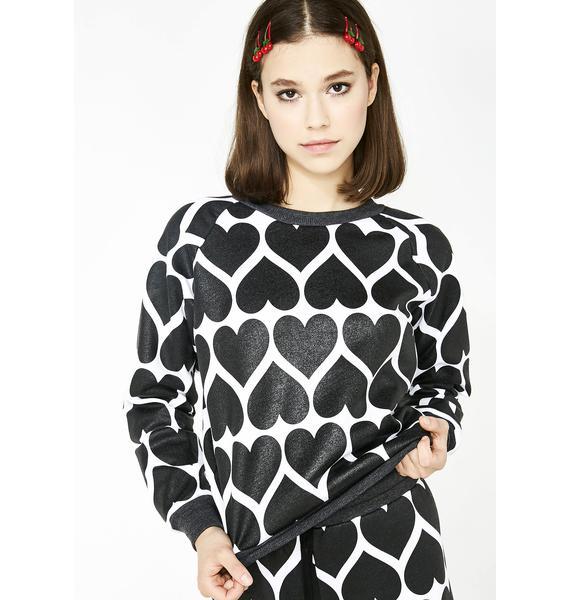 Wildfox Couture Dark Hearts Junior Sweatshirt