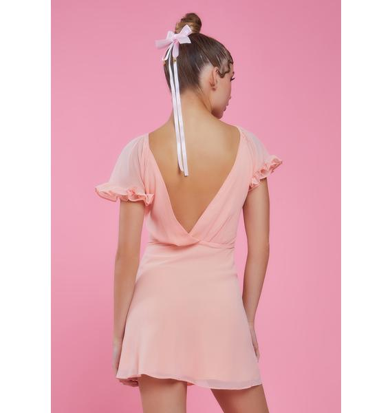 Sugar Thrillz Flow Moment Chiffon Mini Dress