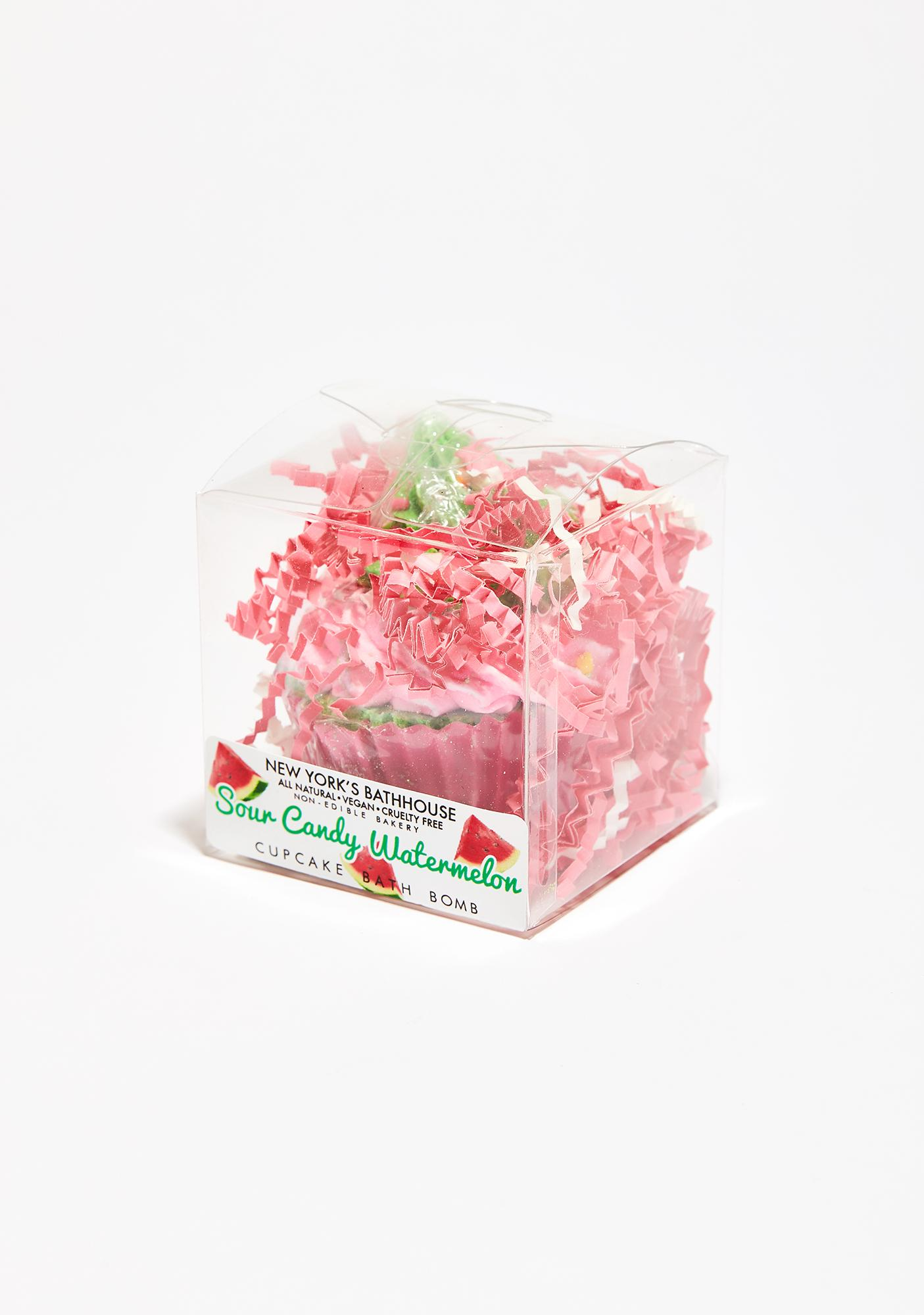 New York's Bathhouse Sour Watermelon Candy Cupcake Bath Bomb