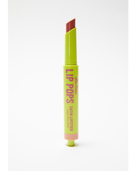 Macaroon Lip Pops Satin Lipstick