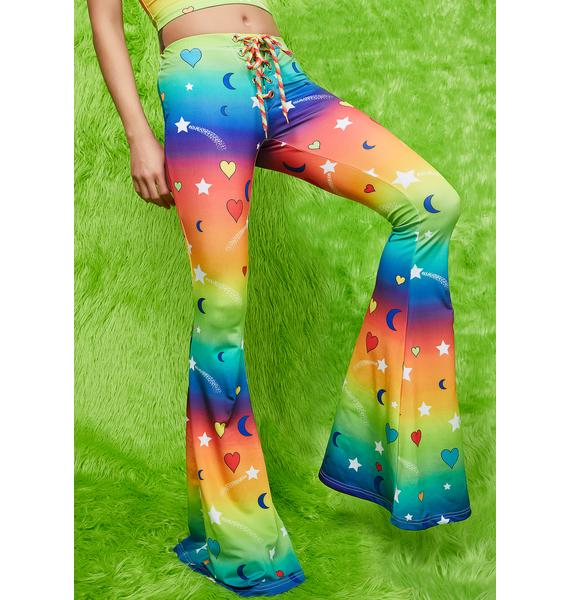 Current Mood Outta This World Flare Pants