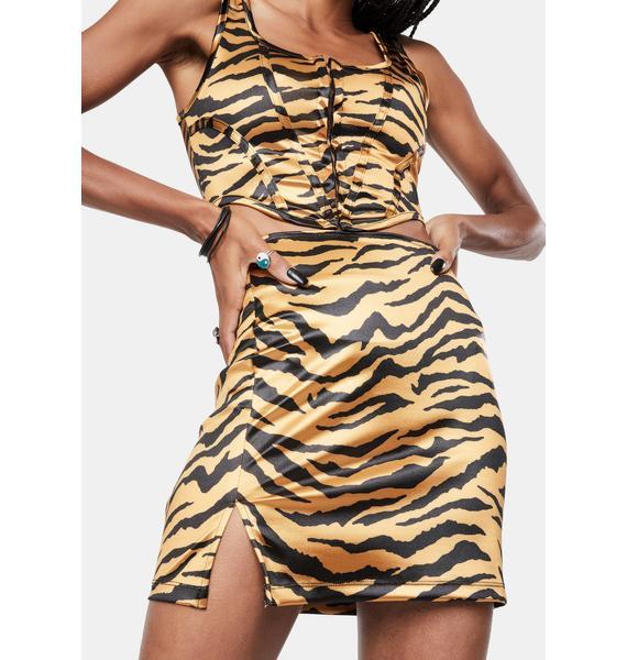 Motel Tiger Gold Zigi Mini Skirt