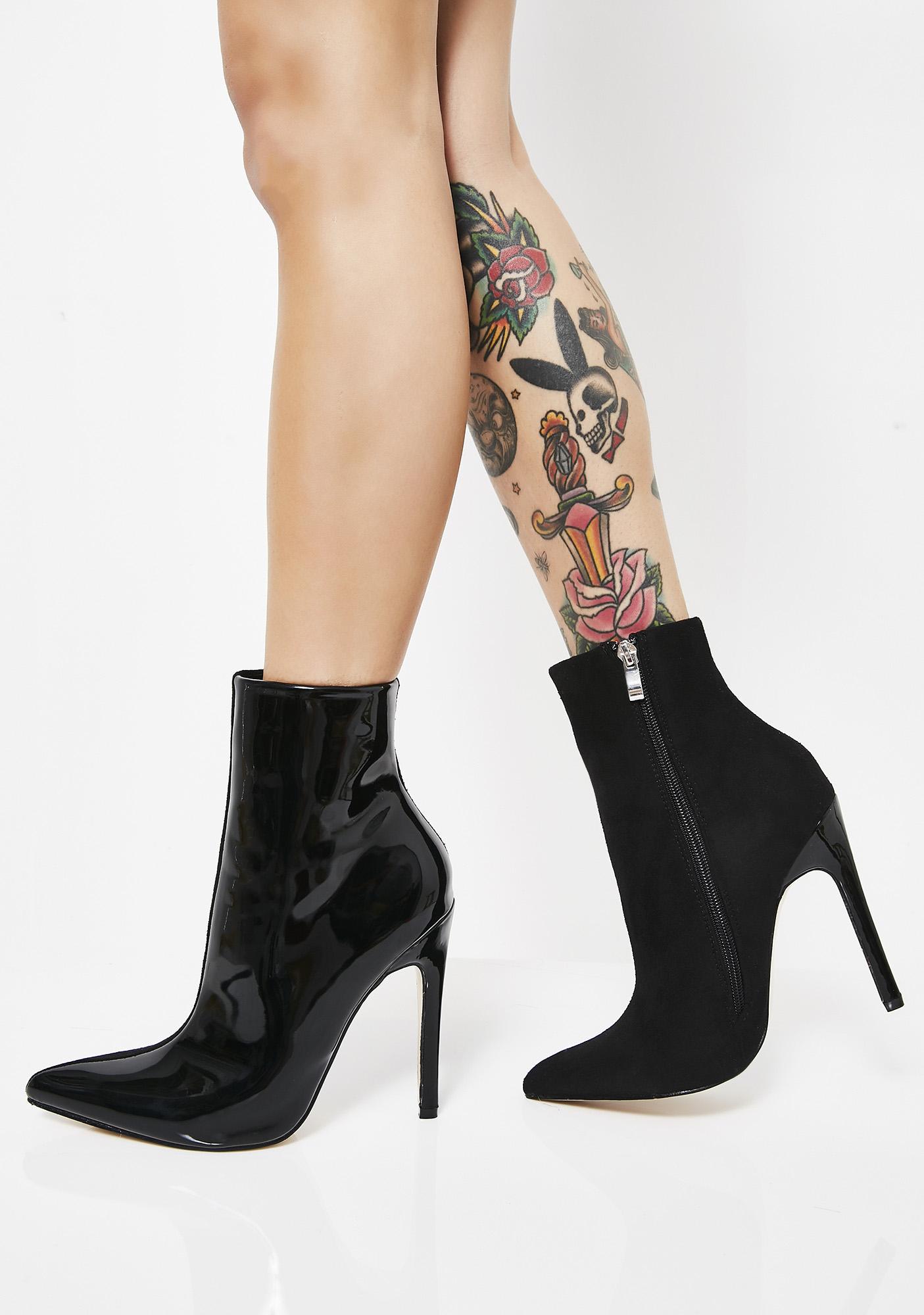 55650a388a8 ... Public Desire Yuri Contrast Stiletto Heel Ankle Boots ...