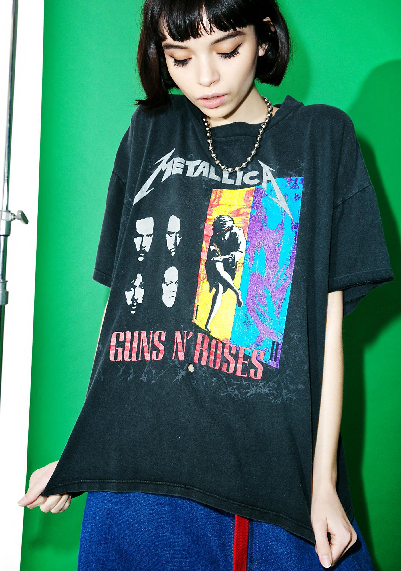 Vintage Metallica X Guns N' Roses '92 Tour Tee