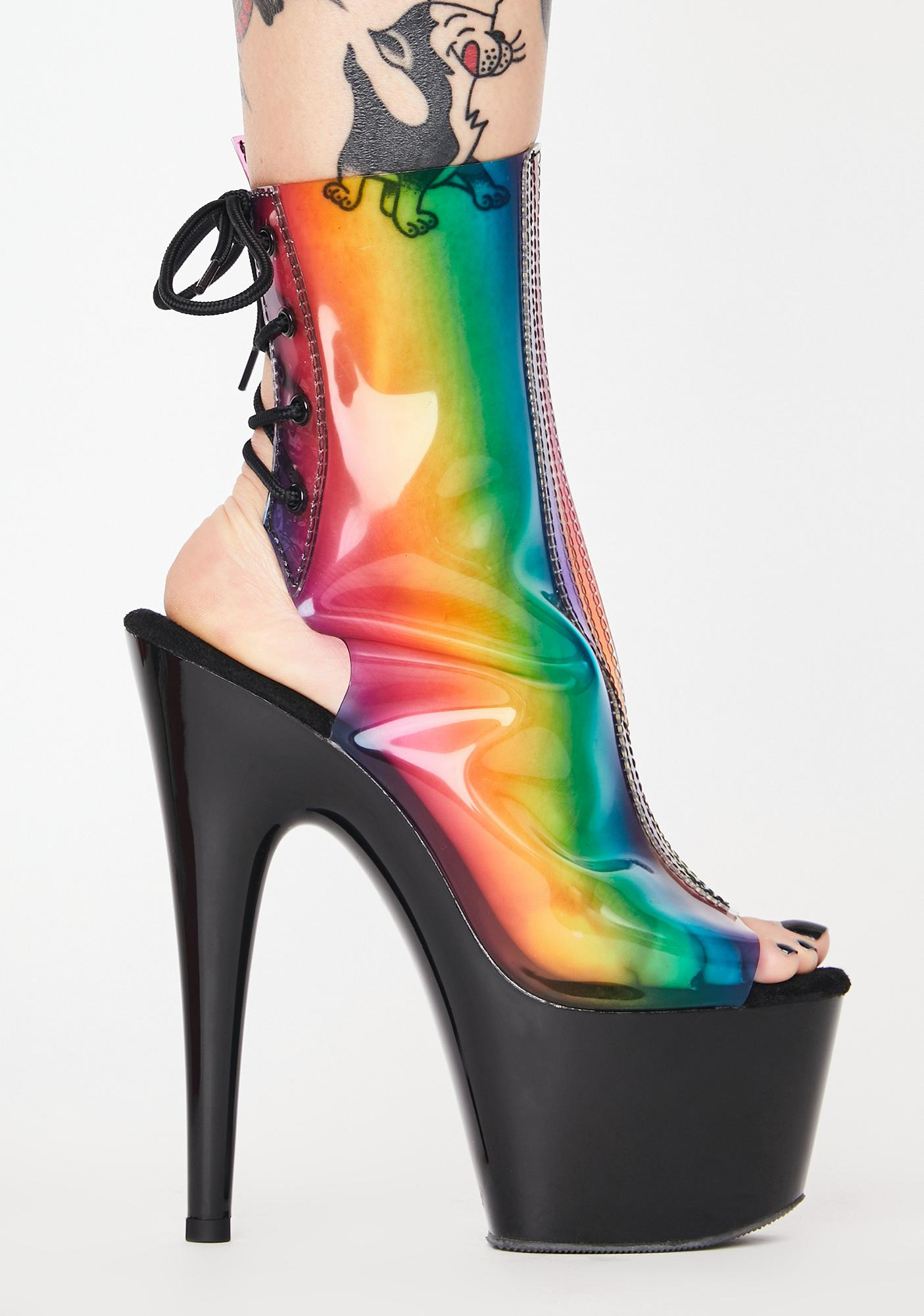 Pleaser Primary Thot Platform Heels