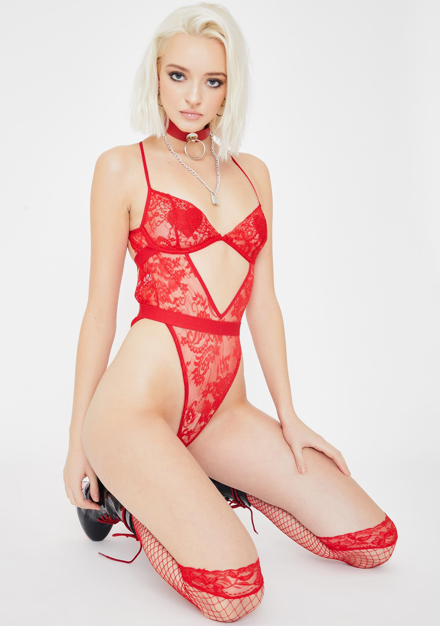Sinful Nights Lace Teddy