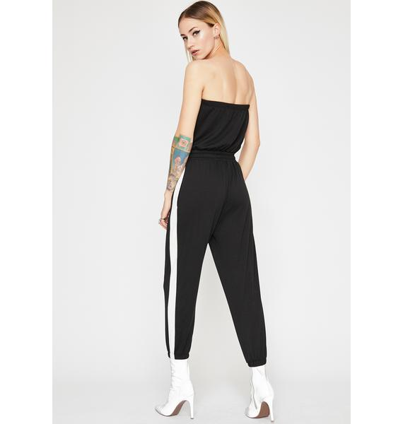Sporty Vibe Strapless Jumpsuit